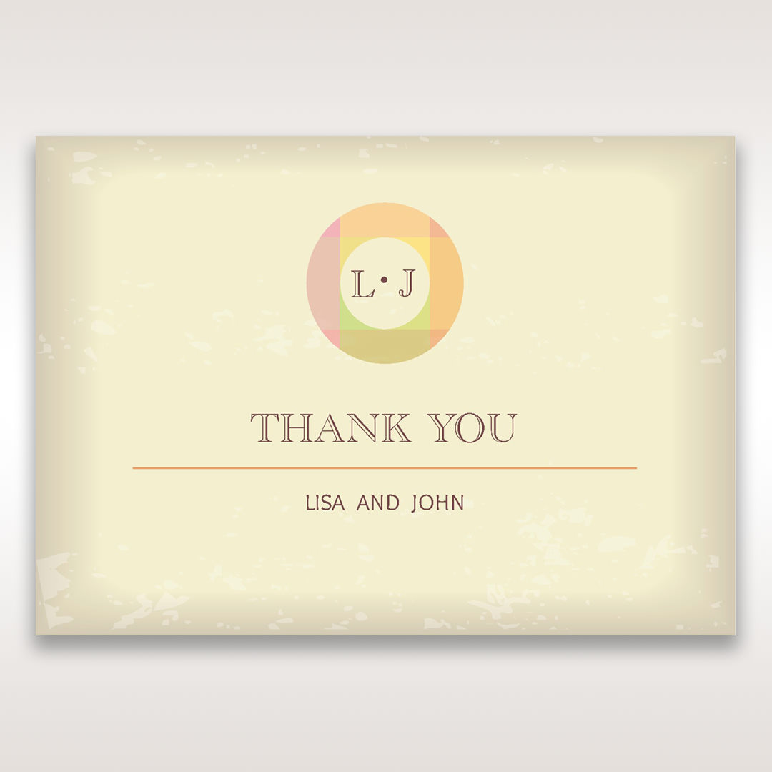 Orange Faded Modern Retro - Thank You Cards - Wedding Stationery - 75
