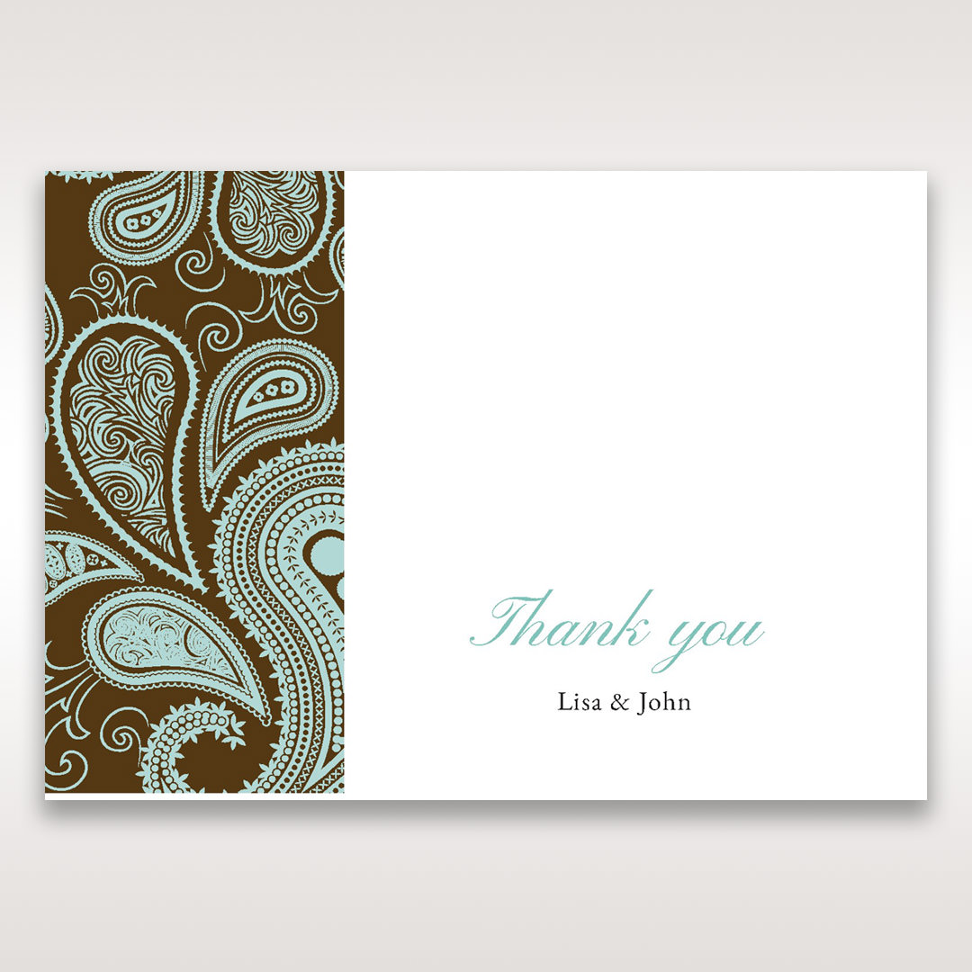 Blue Vintage Swirls - Thank You Cards - Wedding Stationery - 21