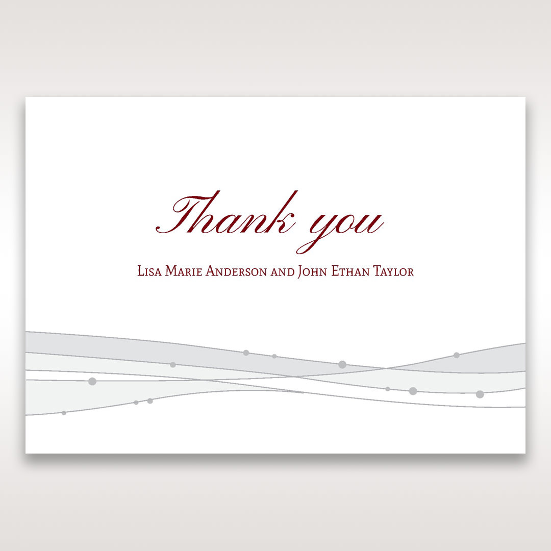 Pink Urban Couture with Jewels - Thank You Cards - Wedding Stationery - 13