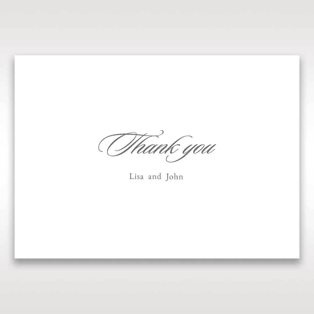Black Majestic Black, White and Red - Thank You Cards - Wedding Stationery - 44