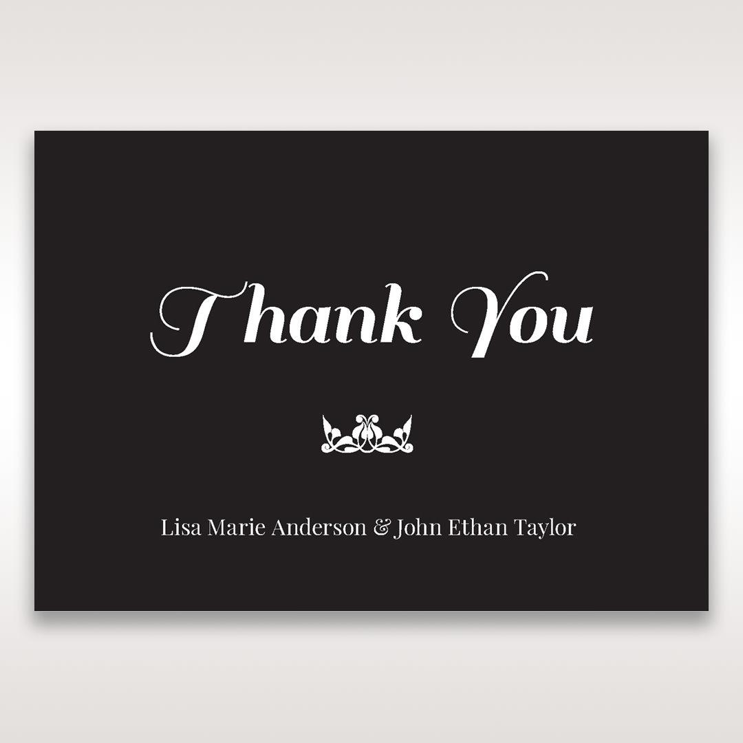 Black Vintage Rose Layered Laser Cut - Thank You Cards - Wedding Stationery - 59