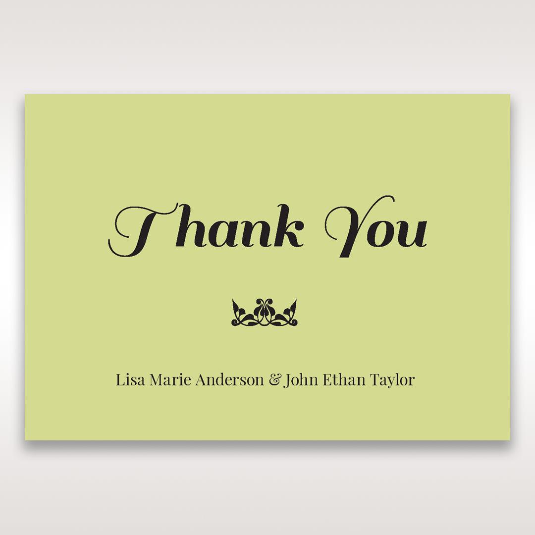 Green Laser Vintage Rose Layered Laser Cut - Thank You Cards - Wedding Stationery - 46