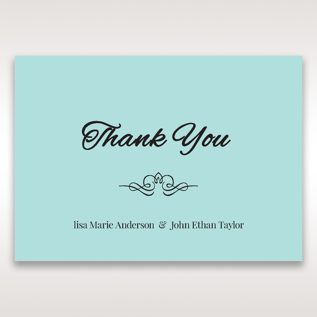 Blue Laser Wild Roses Laser Cut Wrap - Thank You Cards - Wedding Stationery - 61