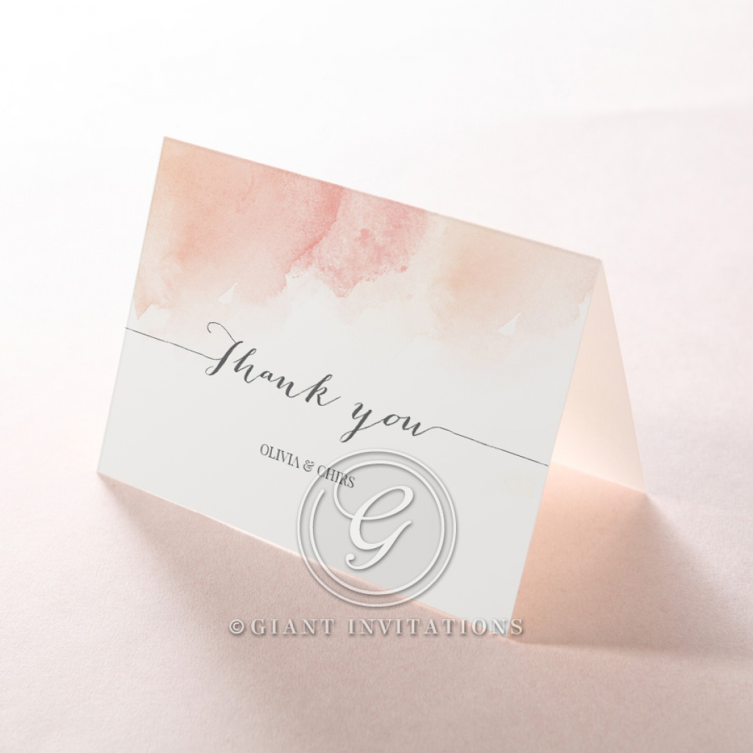 Blushing Rouge thank you card DY116132-TR