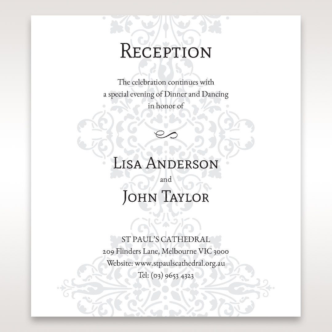 Black A Night at the Opera - Reception Cards - Wedding Stationery - 36