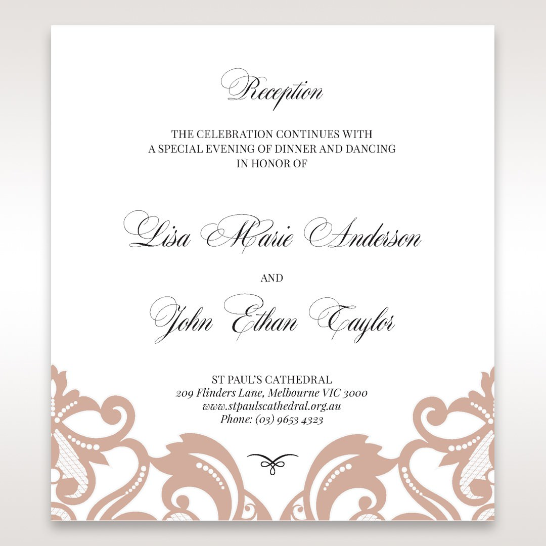 White Elegant Laser Cut Half Pocket with a Bow - Reception Cards - Wedding Stationery - 29