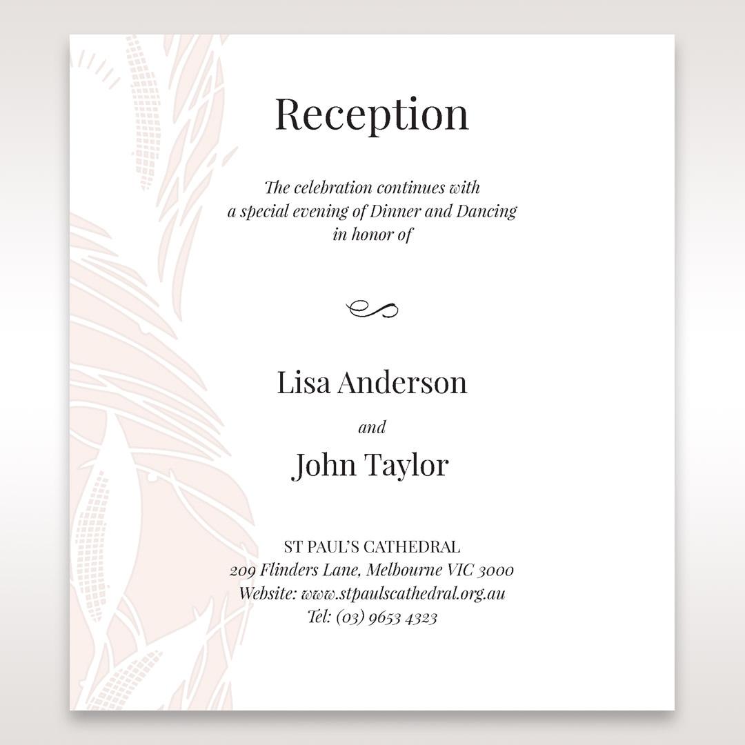 Orange Mystic Forest - Reception Cards - Wedding Stationery - 86
