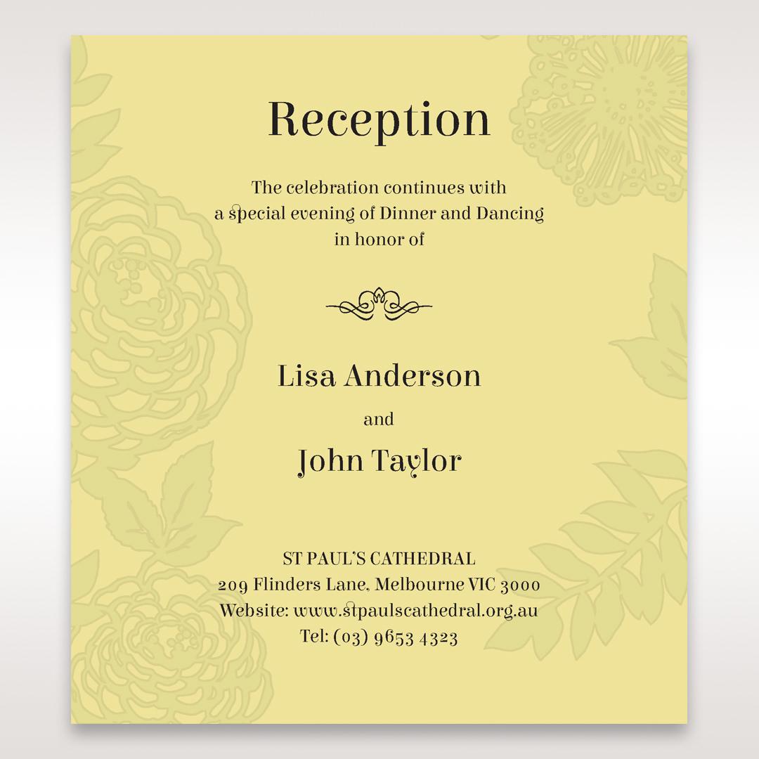 Green Magical Garden - Reception Cards - Wedding Stationery - 98