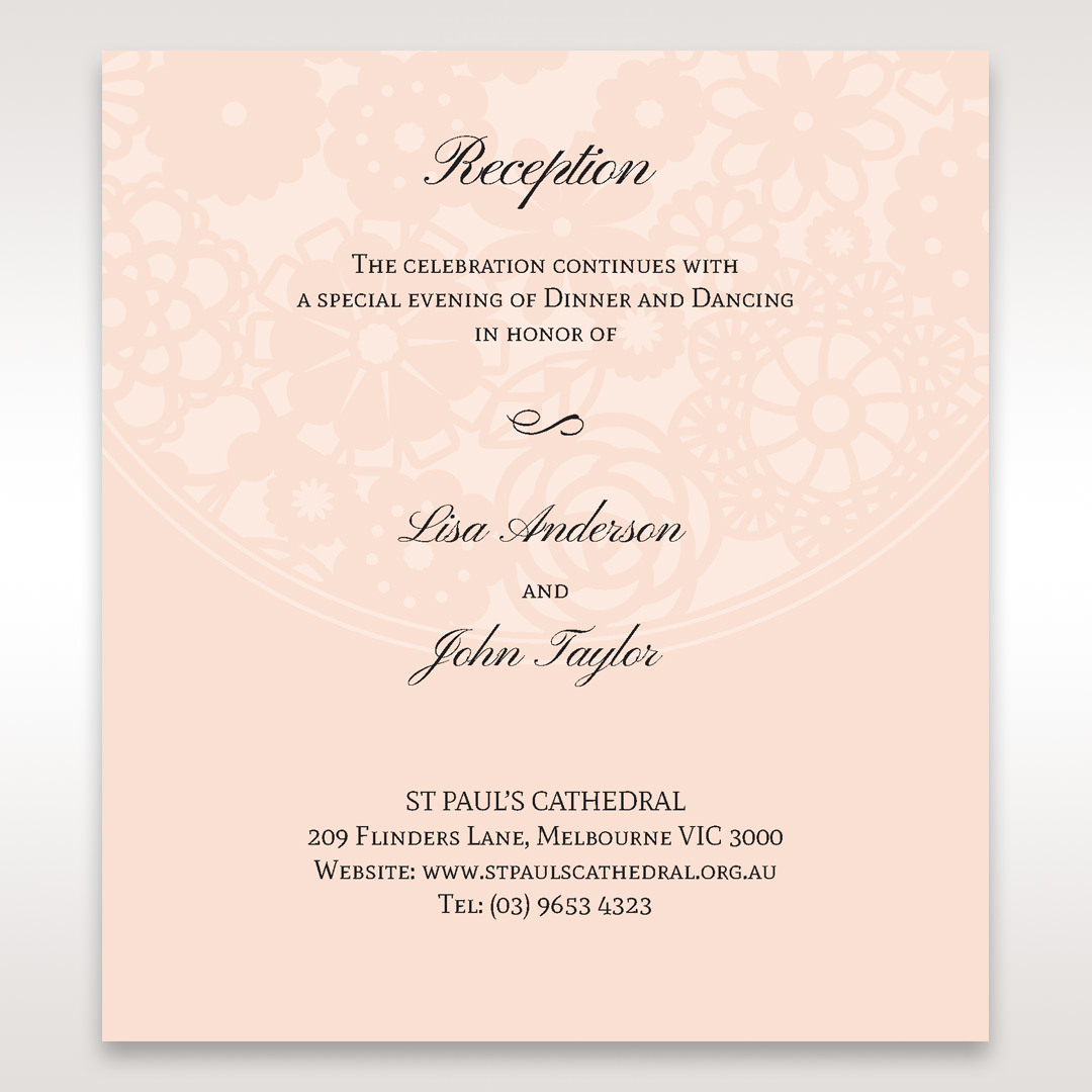Orange Pink Light Romance - Reception Cards - Wedding Stationery - 57