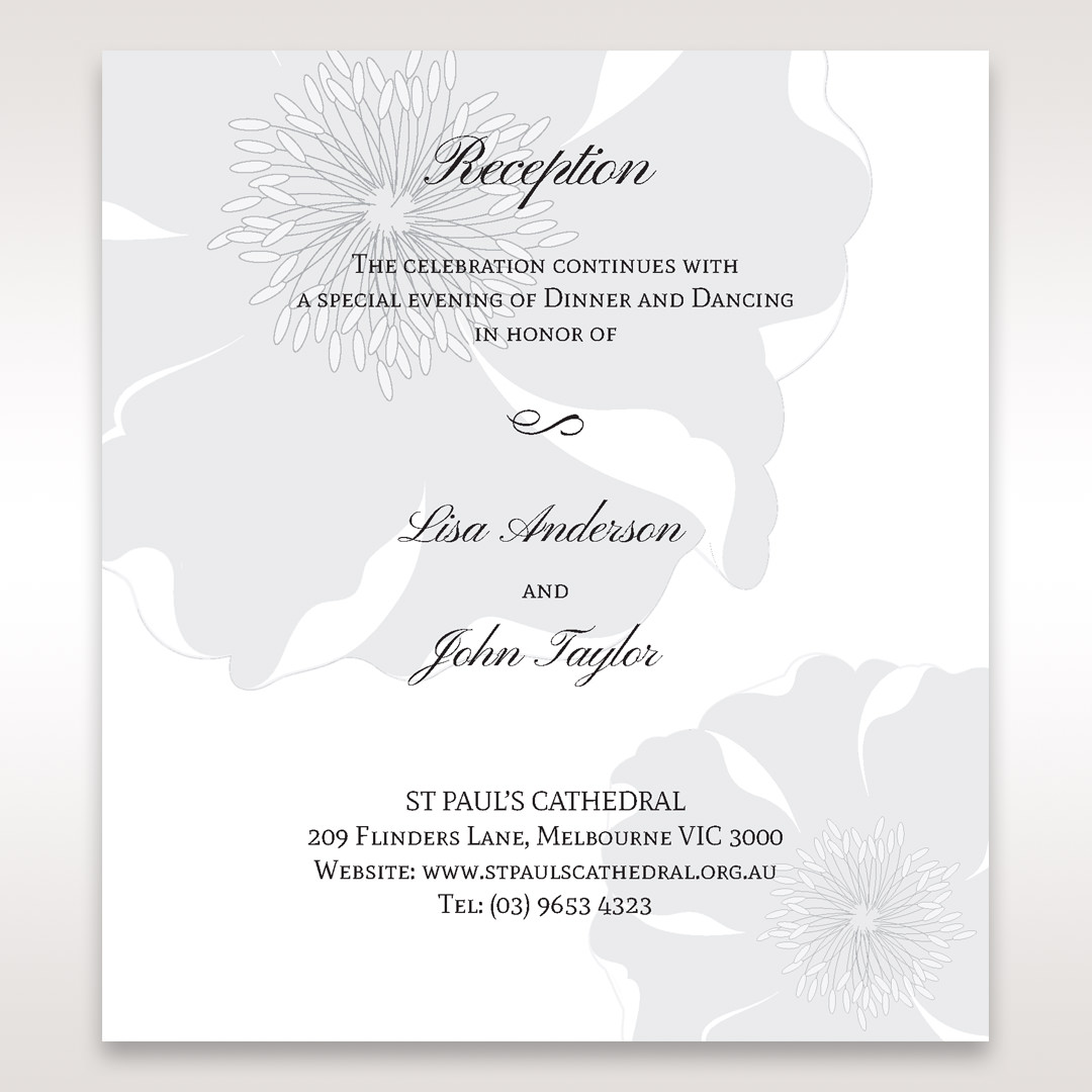 White True Love - Reception Cards - Wedding Stationery - 60