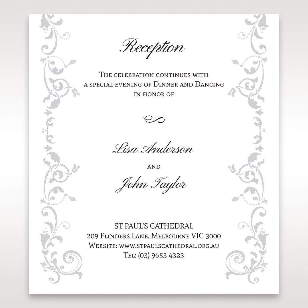 White Modern Times Vintage Pocket - Reception Cards - Wedding Stationery - 62