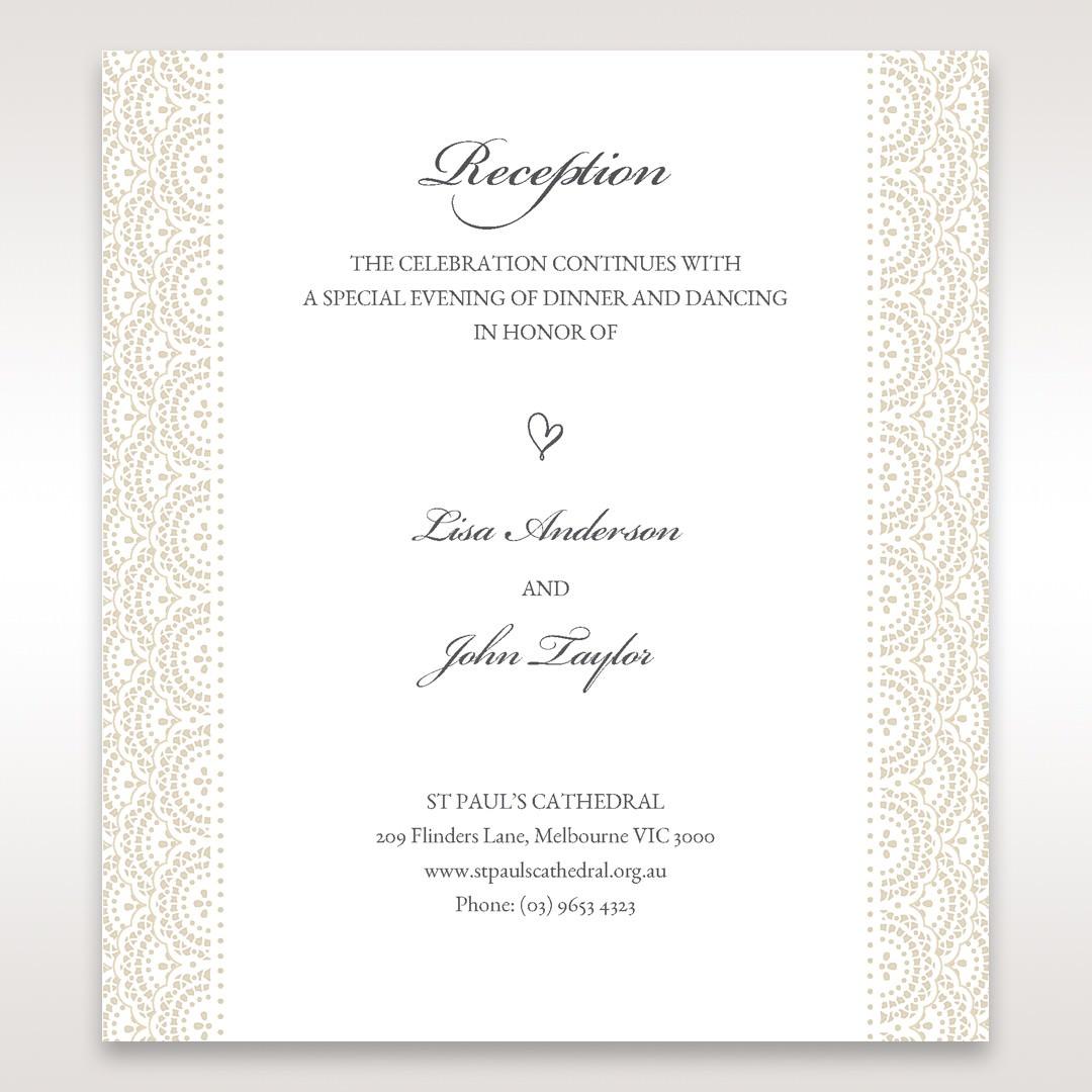White Amabilis - Reception Cards - Wedding Stationery - 43
