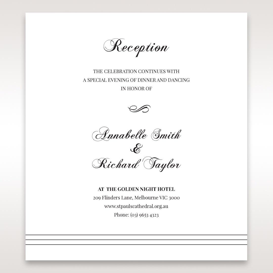 White Modern Pocket-Grey - Reception Cards - Wedding Stationery - 44