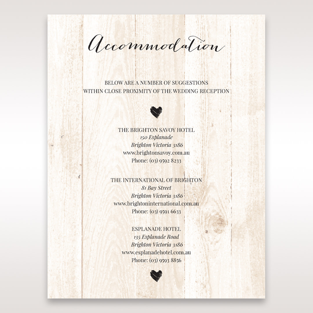 Brown Rustic Woodlands - Accommodation - Wedding Stationery - 74