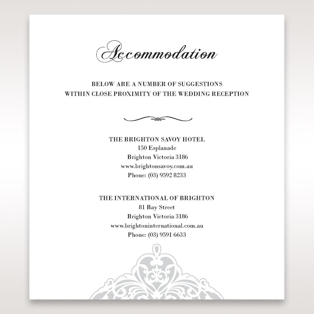 White An Elegant Beginning - Accommodation - Wedding Stationery - 90