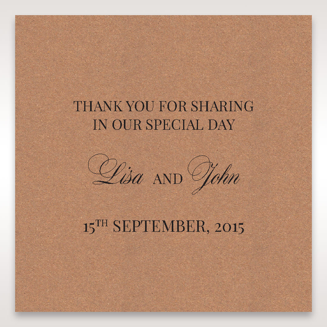 Brown Rustic Laser Cut Pocket with Classic Bow - Gift Tags - Wedding Stationery - 98