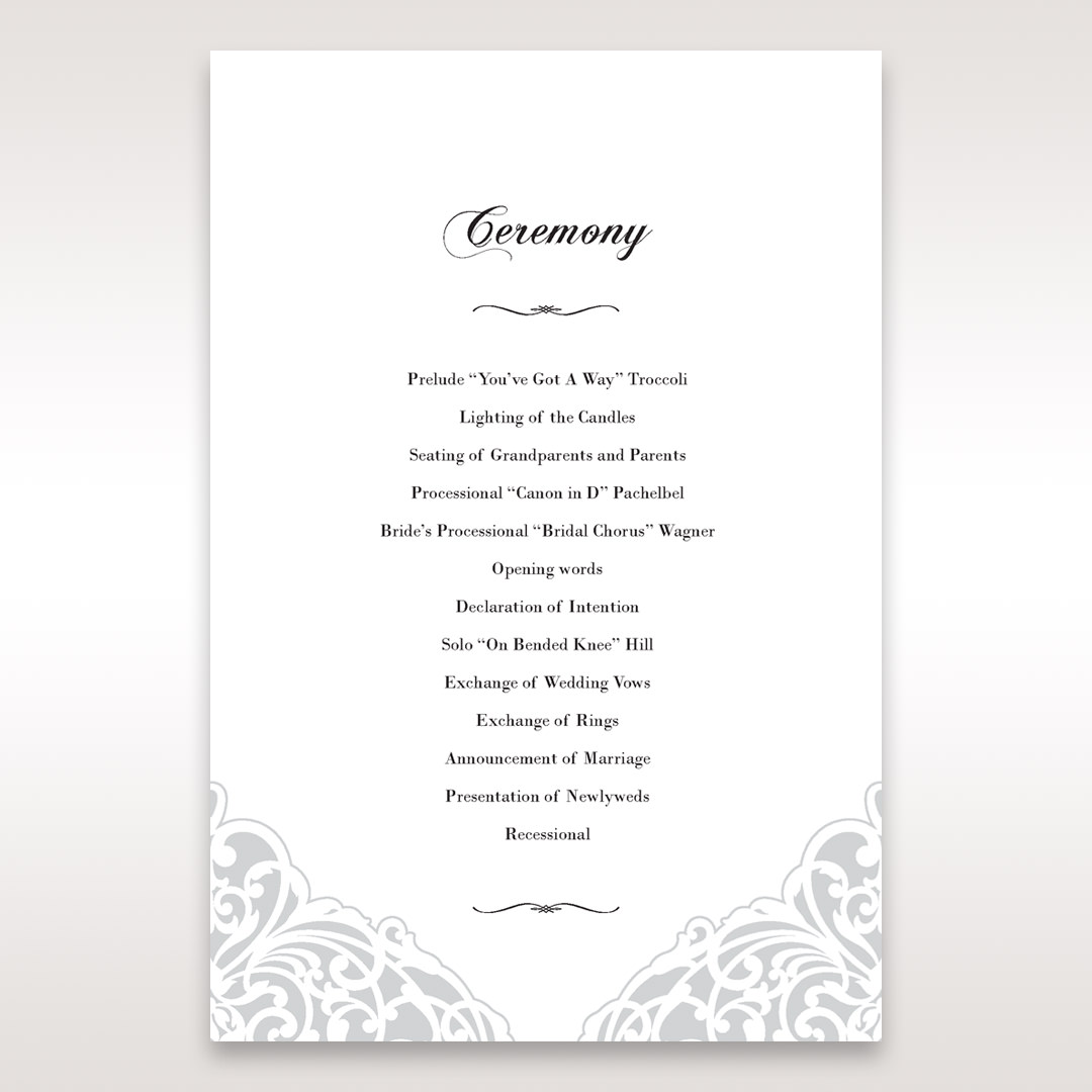 White An Elegant Beginning - Order of Service - Wedding Stationery - 89