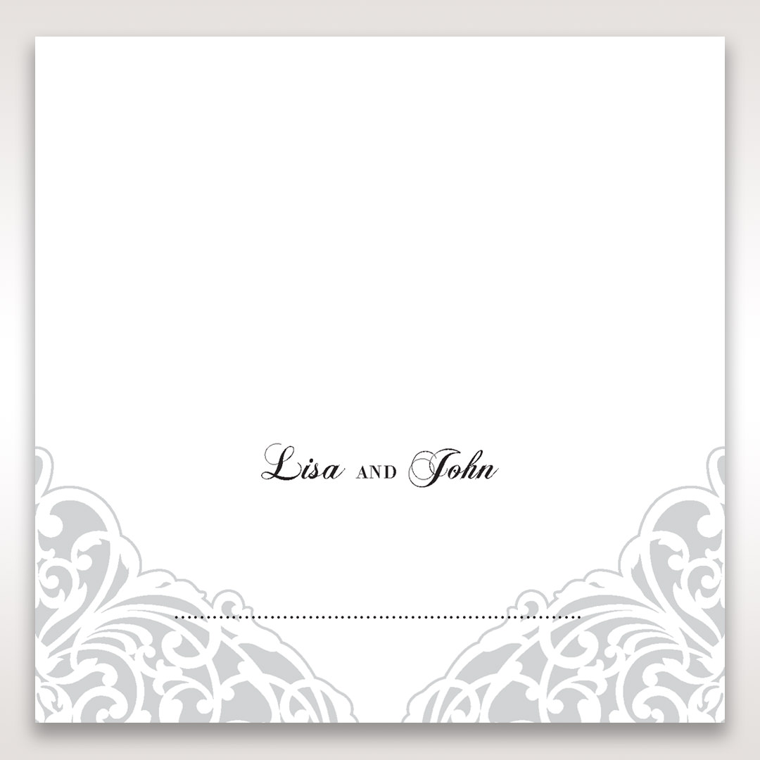 White An Elegant Beginning - Place Cards - Wedding Stationery - 55