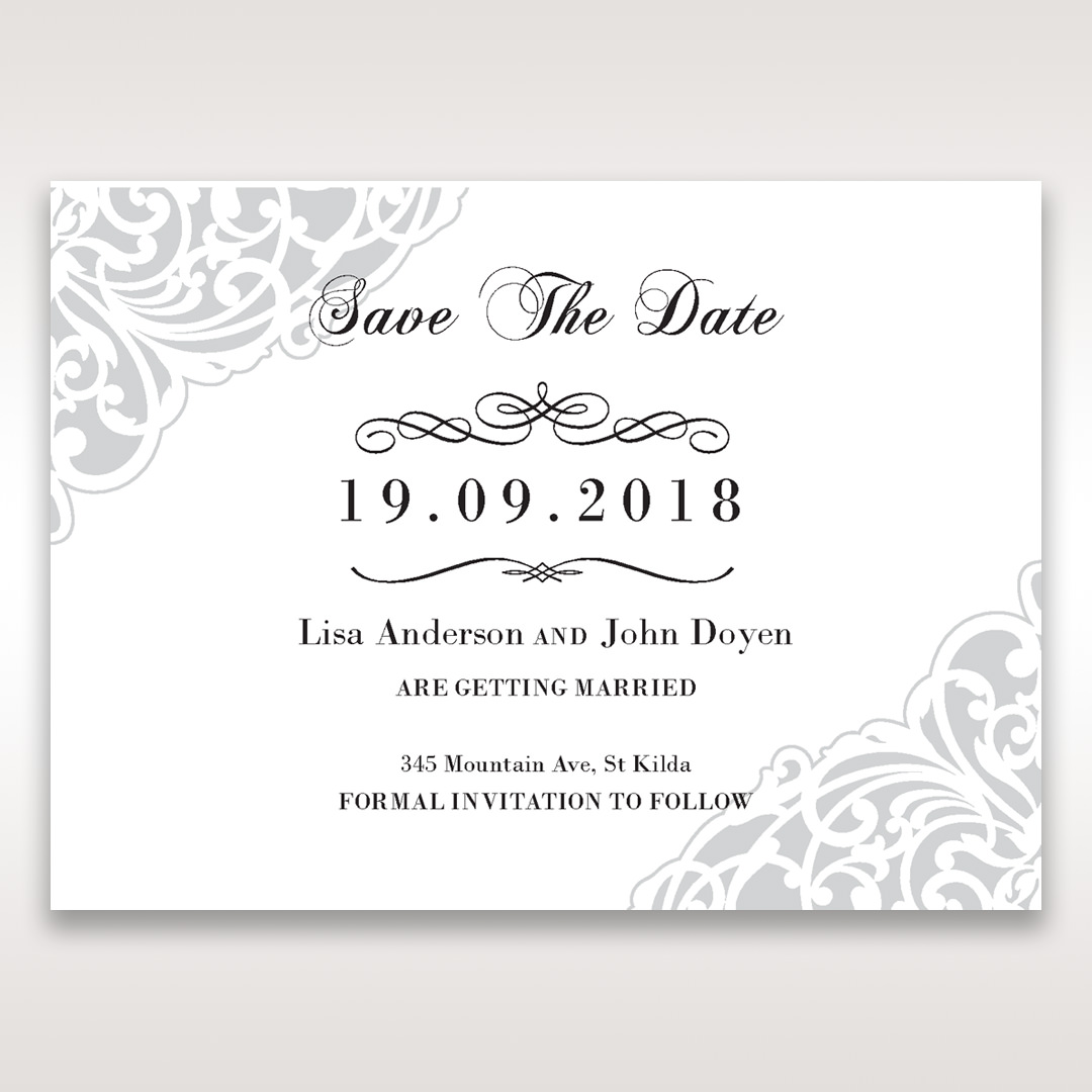 White An Elegant Beginning - Save the Date - Wedding Stationery - 88