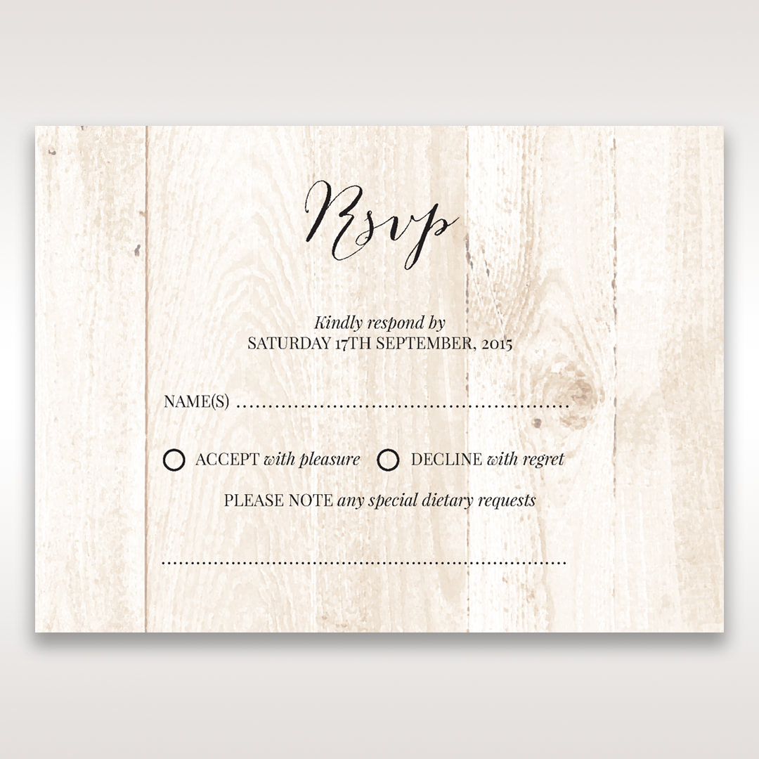 Brown Rustic Woodlands - RSVP Cards - Wedding Stationery - 38