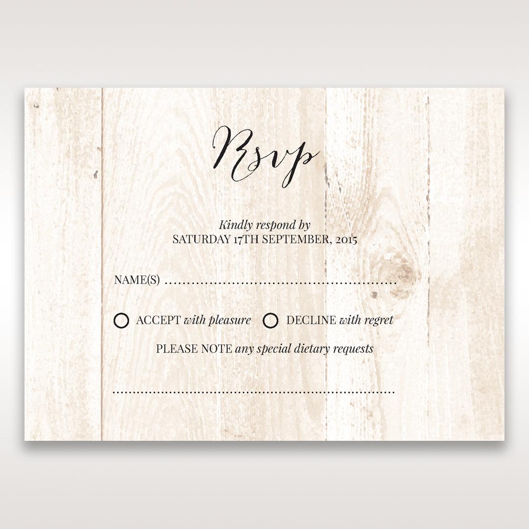 Brown Rustic Woodlands - RSVP Cards - Wedding Stationery - 38