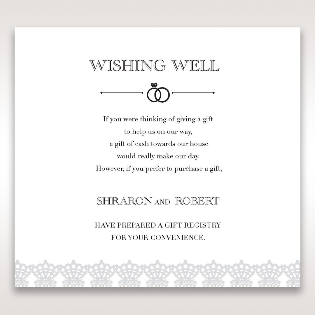 Typical Wedding Gift Card Amount : White Traditional RomanceWishing Well / Gift RegistryWedding ...