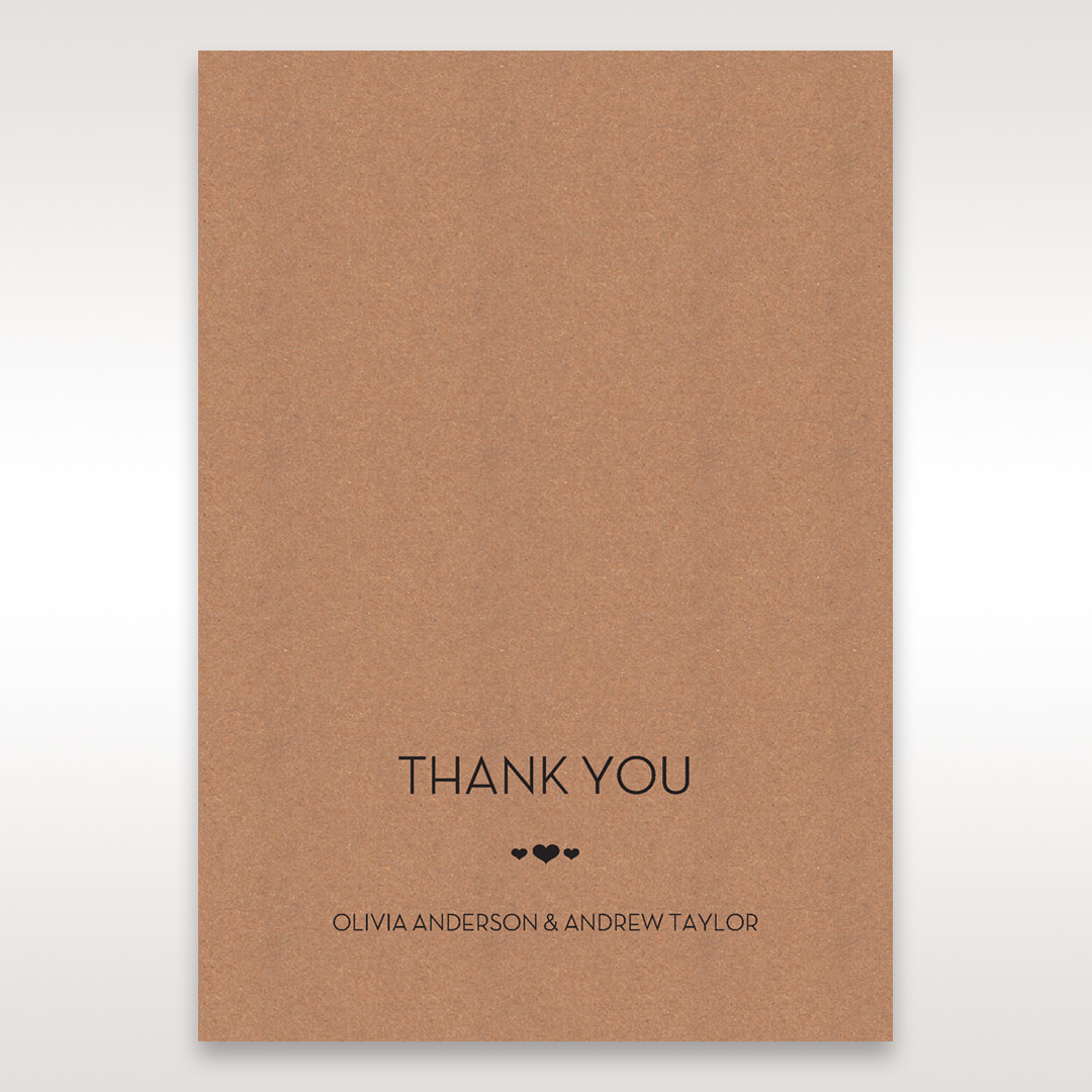 Brown Blissfully Rustic Laser Cut Wrap - Thank You Cards - Wedding Stationery - 41