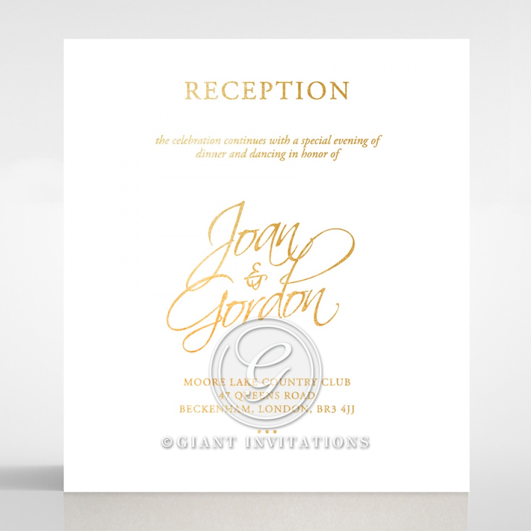Diamond Drapery reception card DC116106-GW-GG