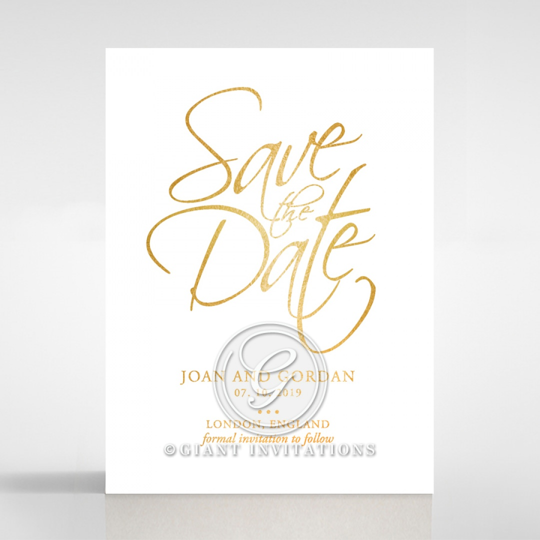 Diamond Drapery save the date DS116106-GW-GG