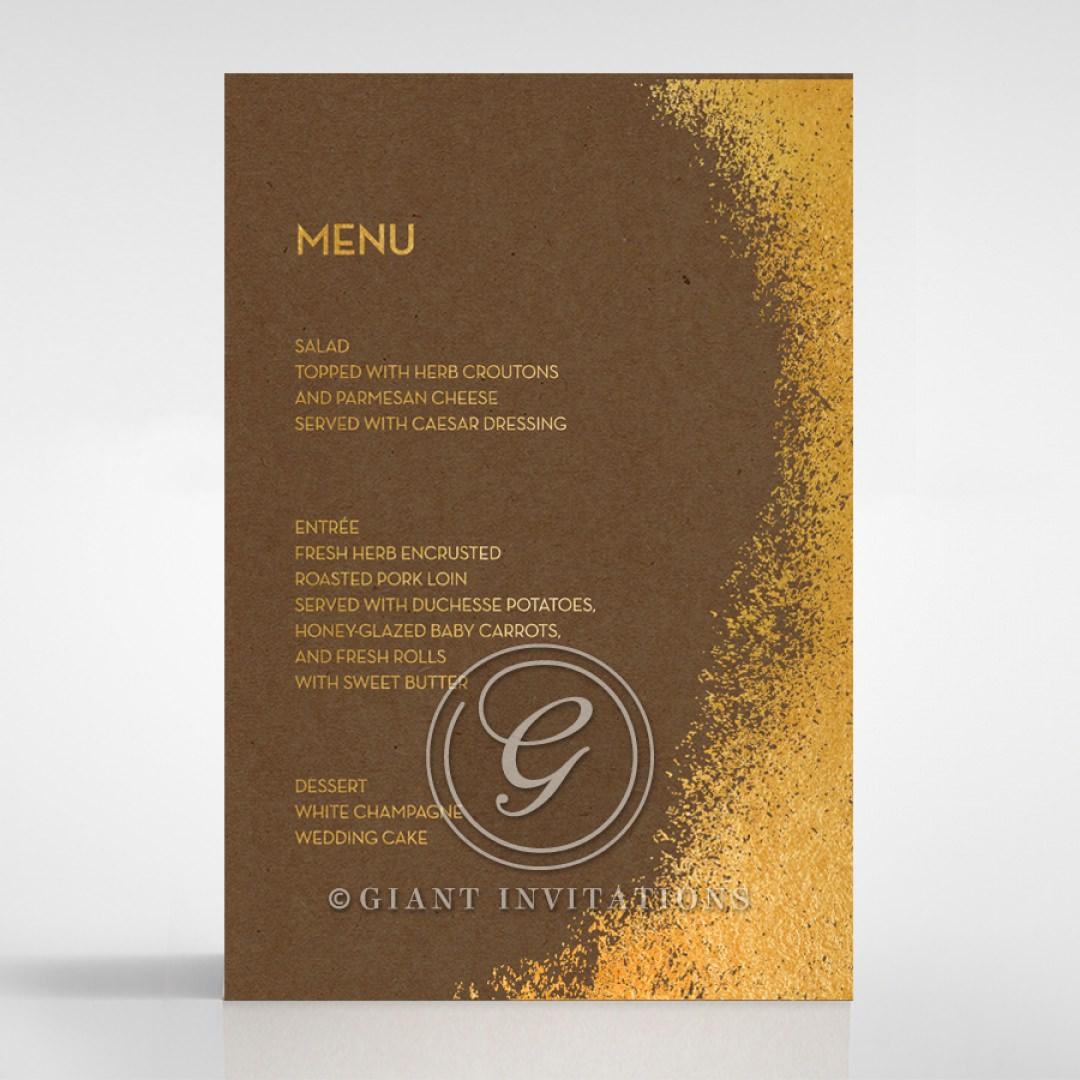 Dusted Glamour menu card DM116098-NC-GG