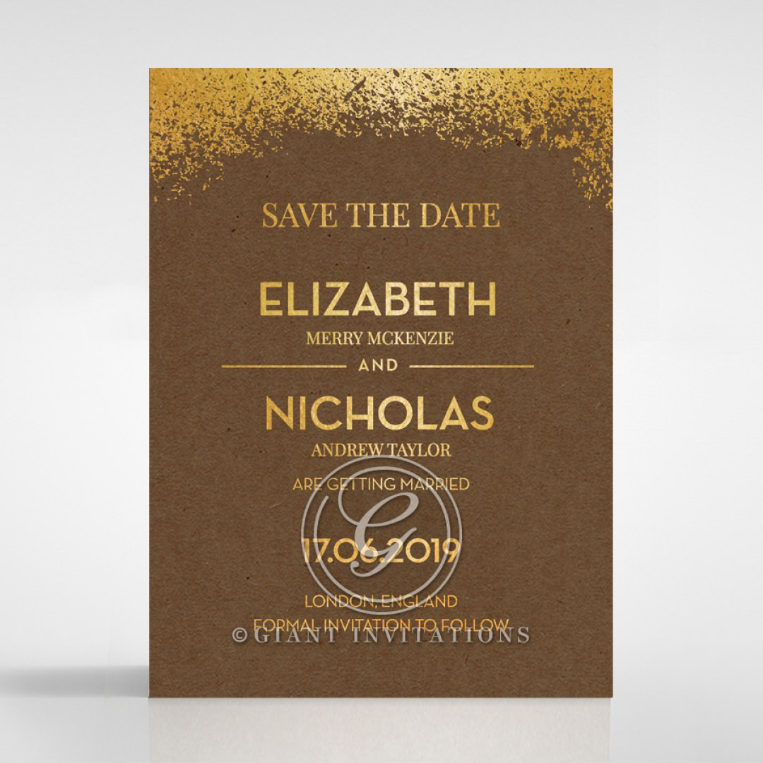 Dusted Glamour save the date DS116098-EC-GG