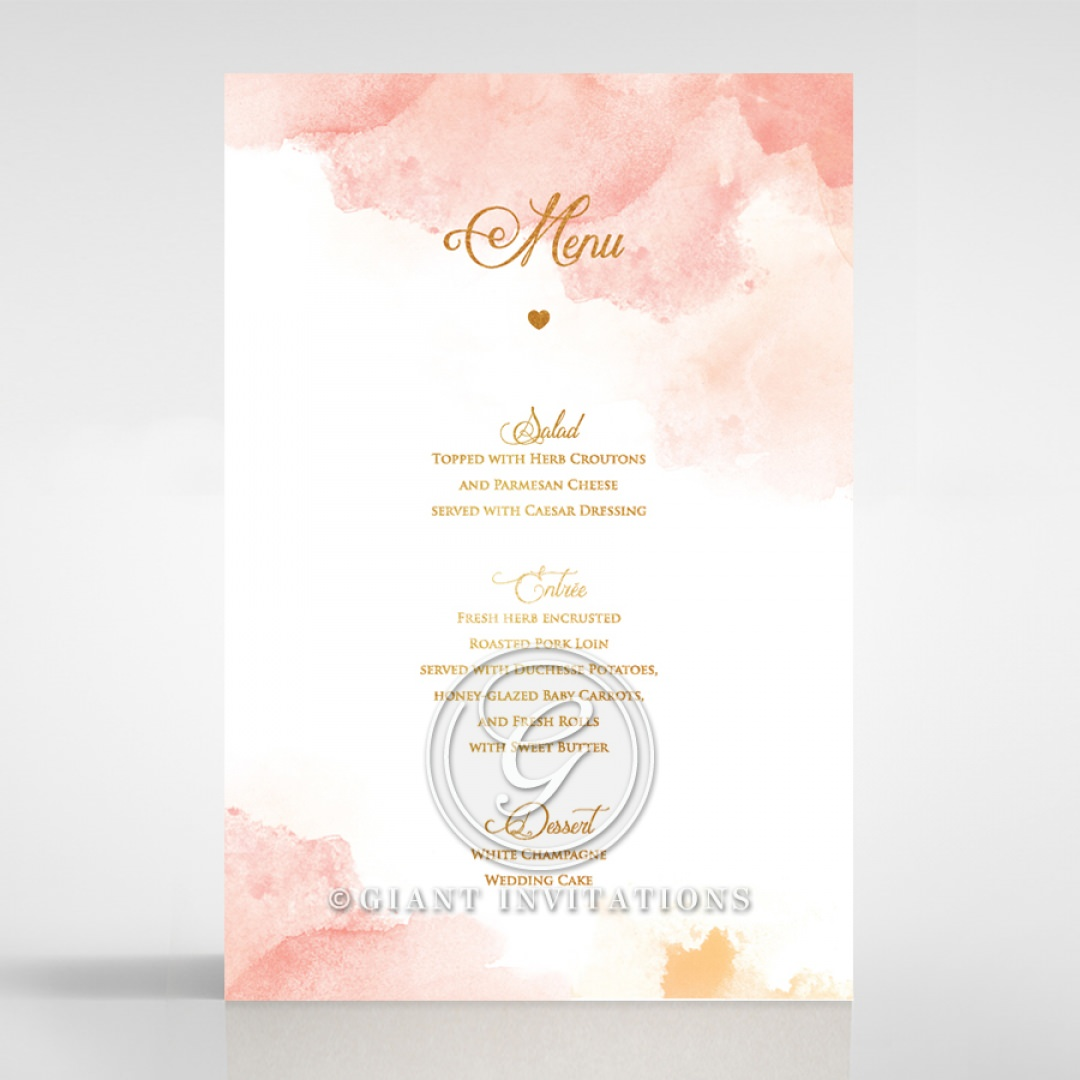 Dusty Rose with Foil menu card DM116125-TR-MG