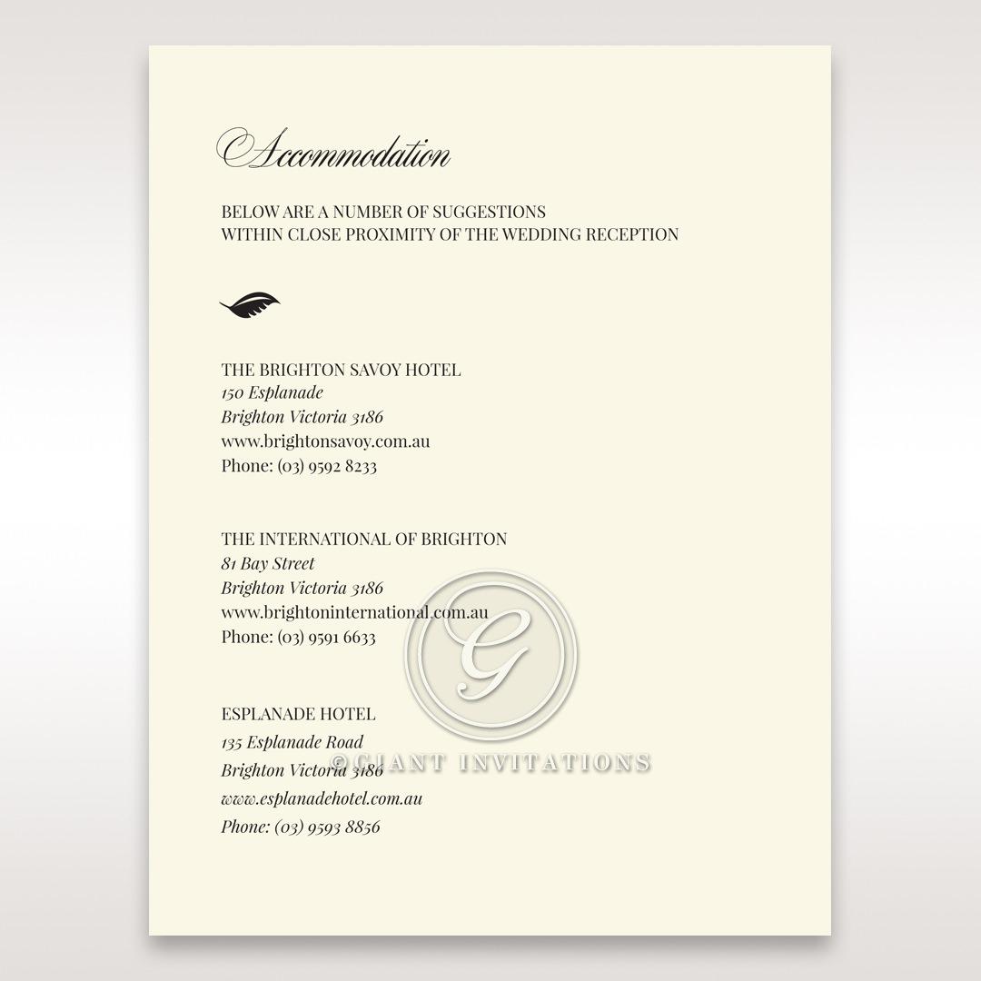 Elegant Floral Laser Cut accommodation card DA15087