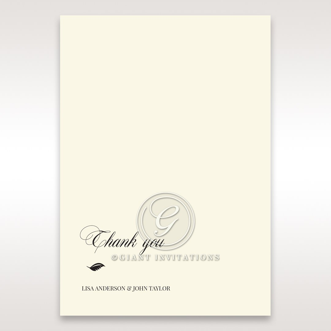 Elegant Floral Laser Cut thank you card DY15087