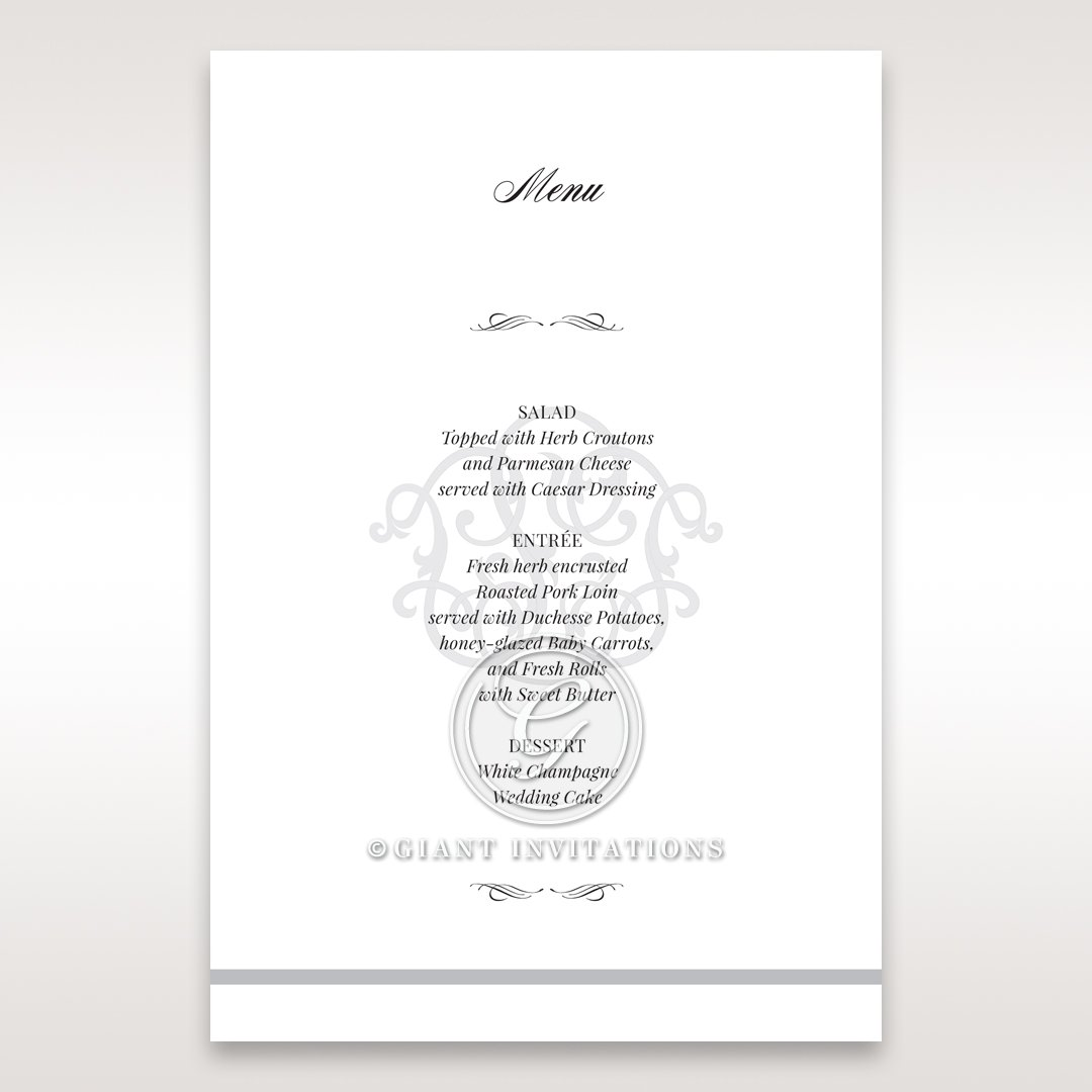 Elegant Seal menu card DM14503