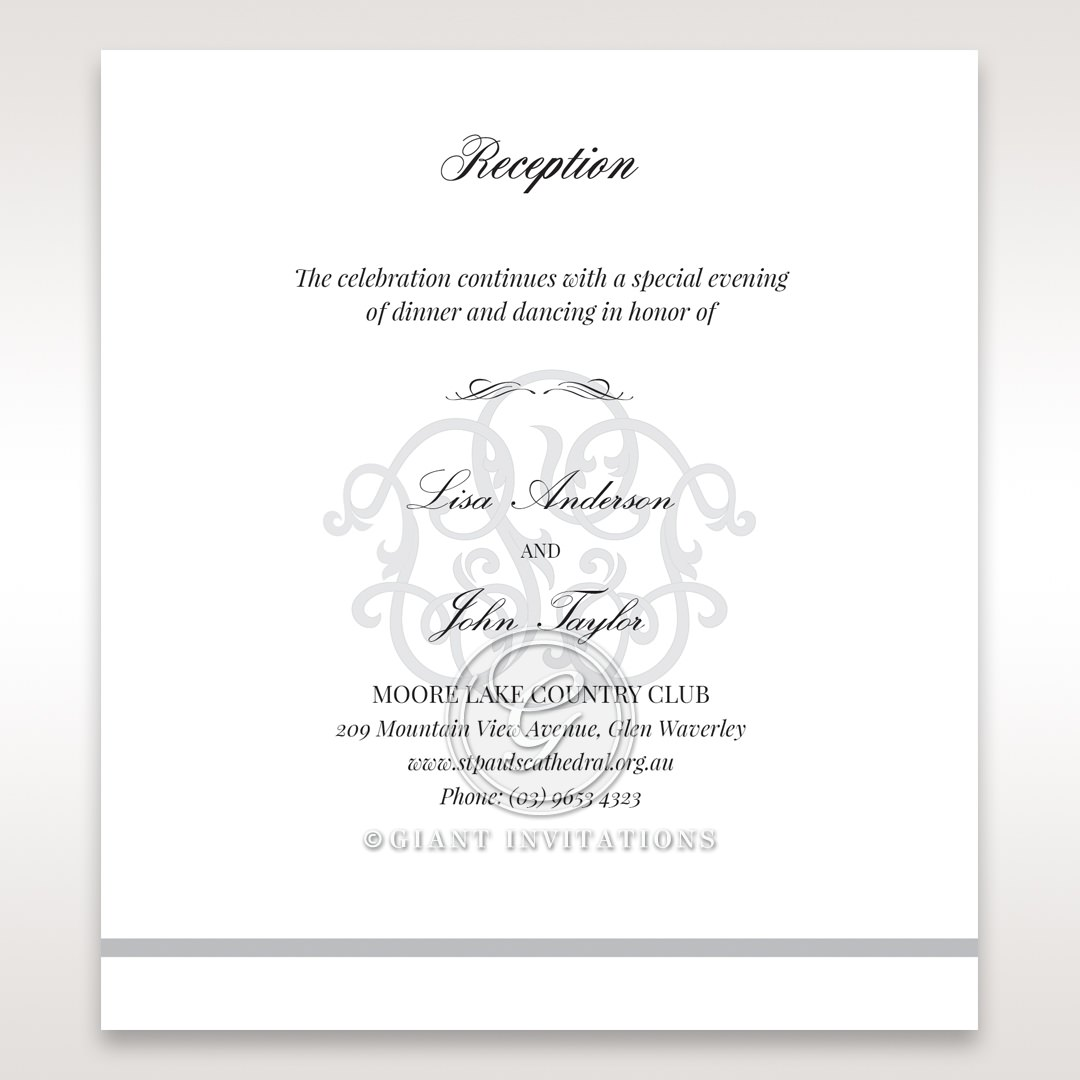 Elegant Seal reception card DC14503