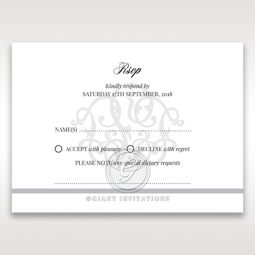 Elegant Seal rsvp card DV14503