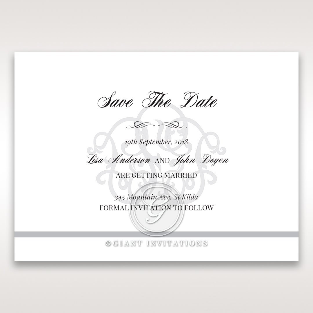 Elegant Seal save the date DS14503