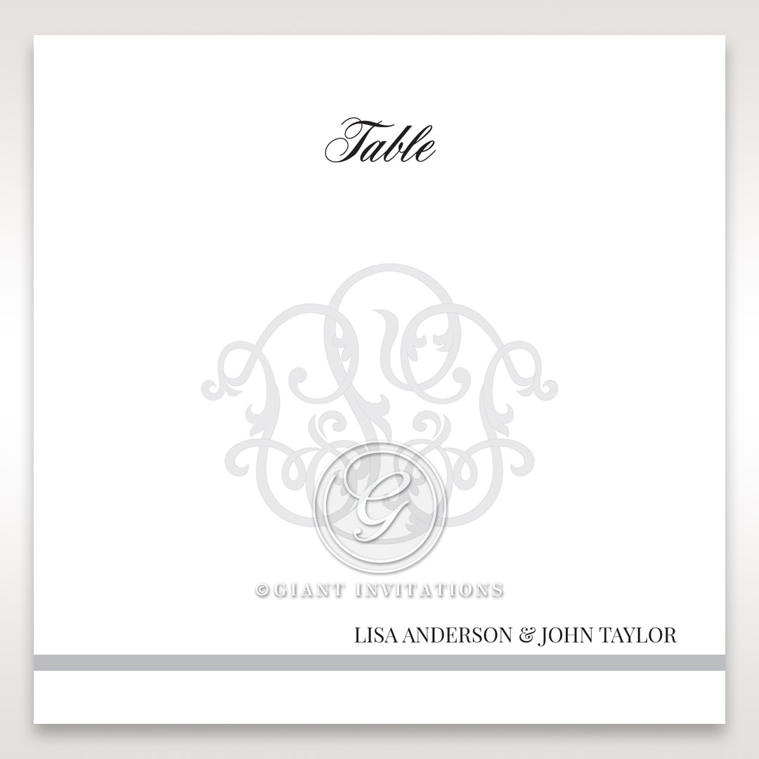 Elegant Seal table number card DT14503