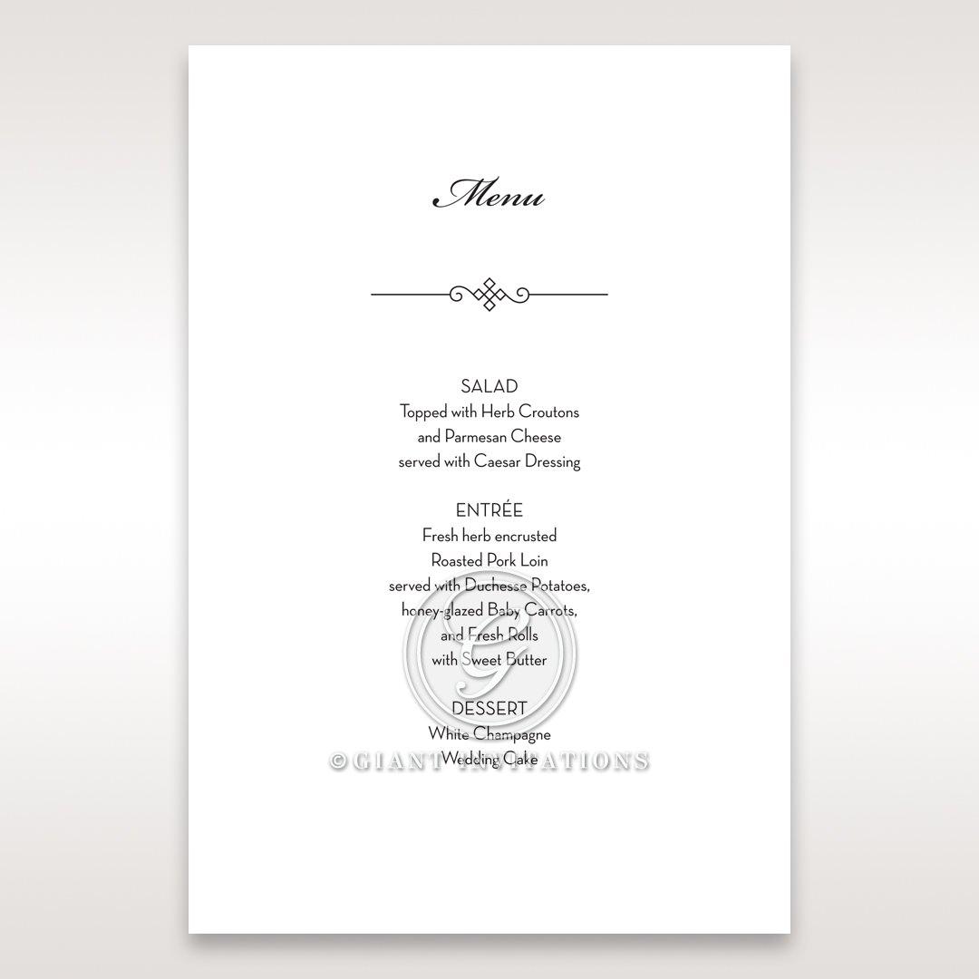 Embossed Date menu card DM14131