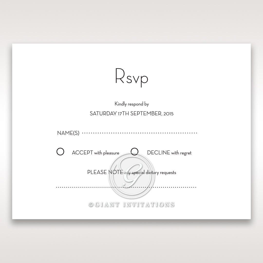 Embossed Date rsvp card DV14131