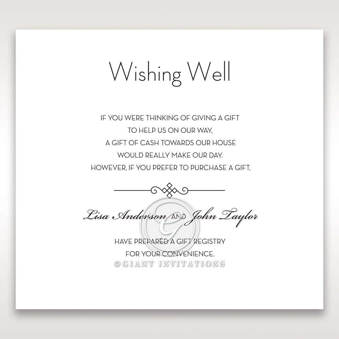 Embossed Date wishing well card DW14131