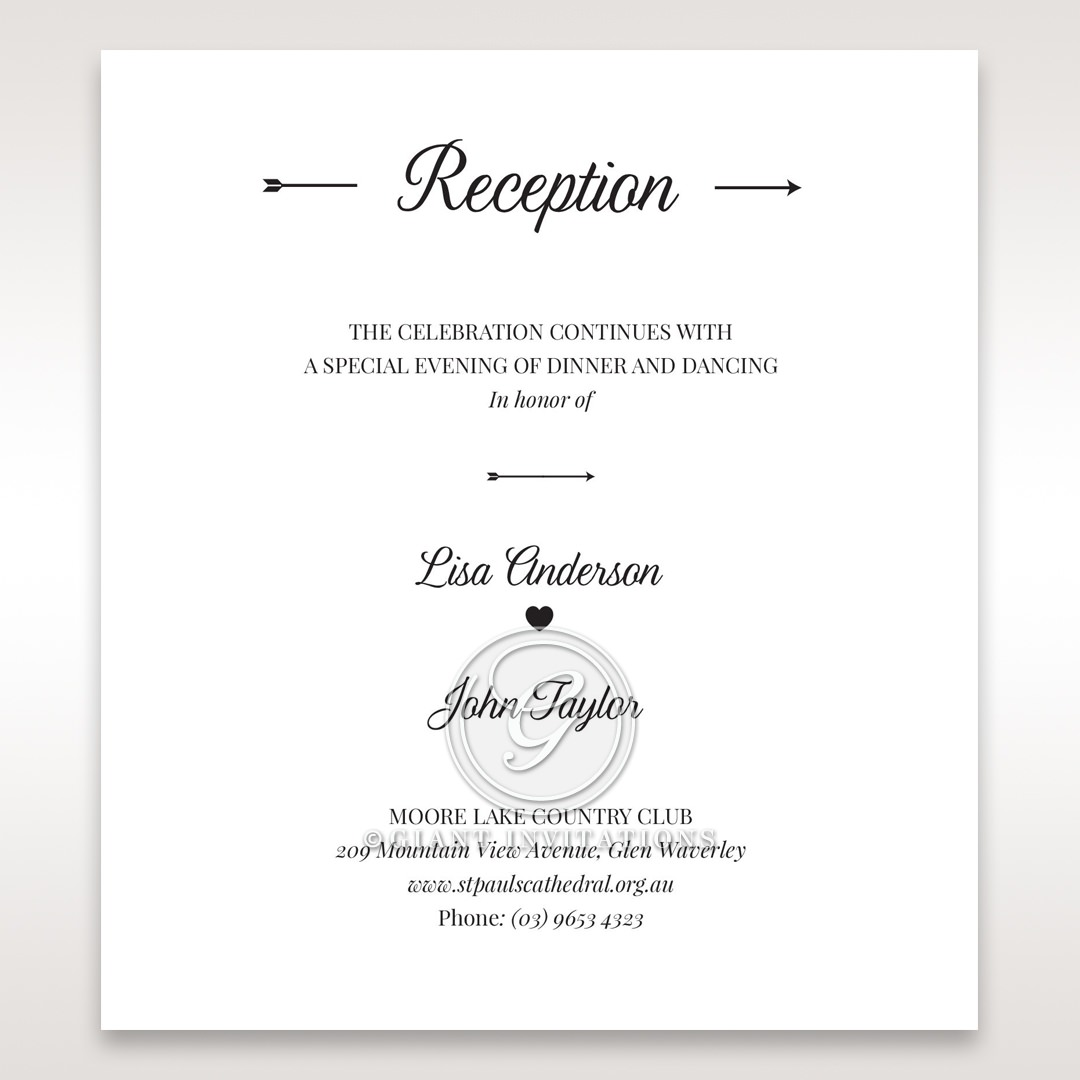 Embossed Frame reception card DC116025