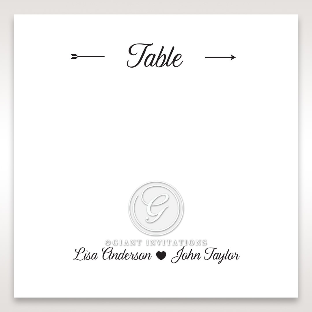 Embossed Frame table number card DT116025