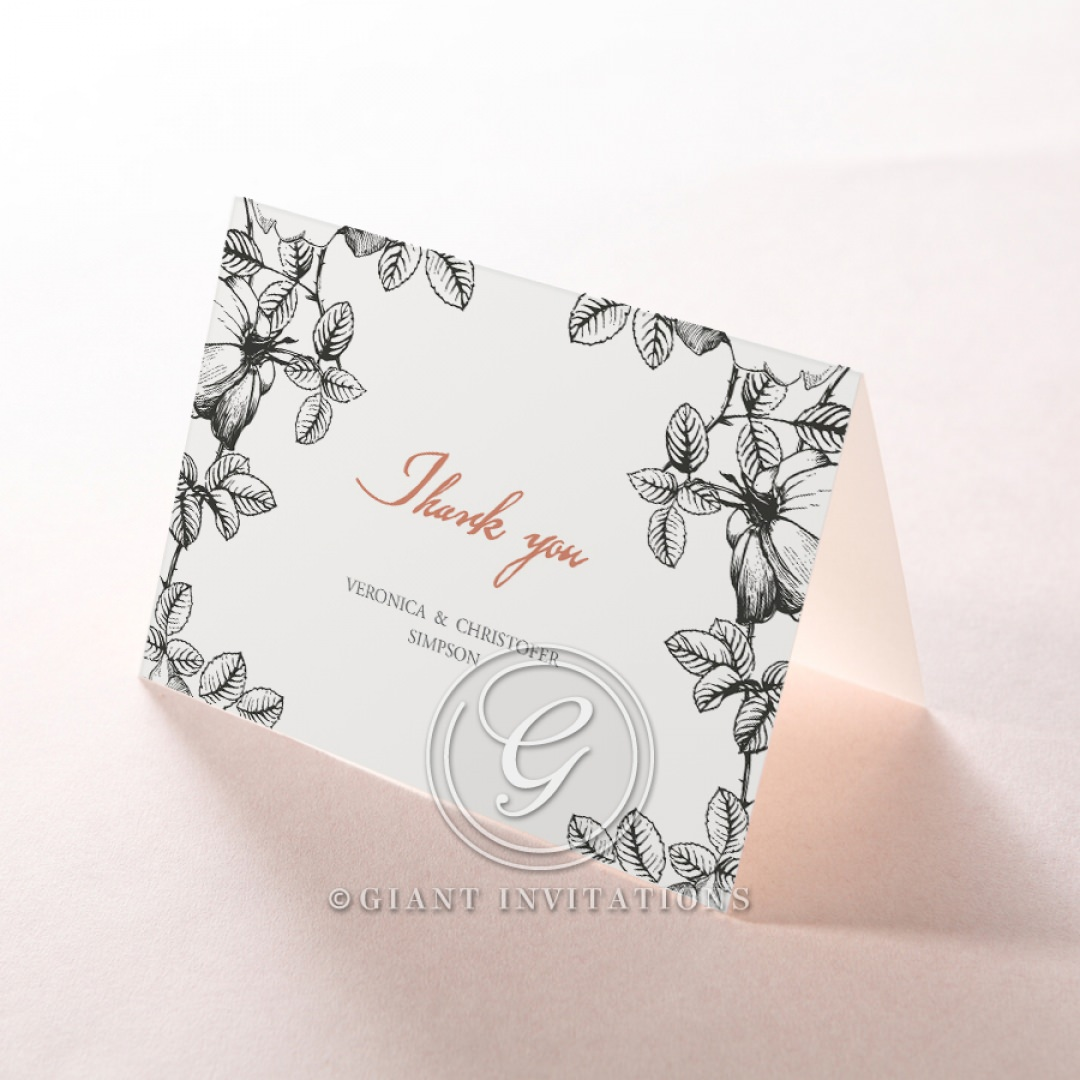 English Rose thank you card DY116108-PK