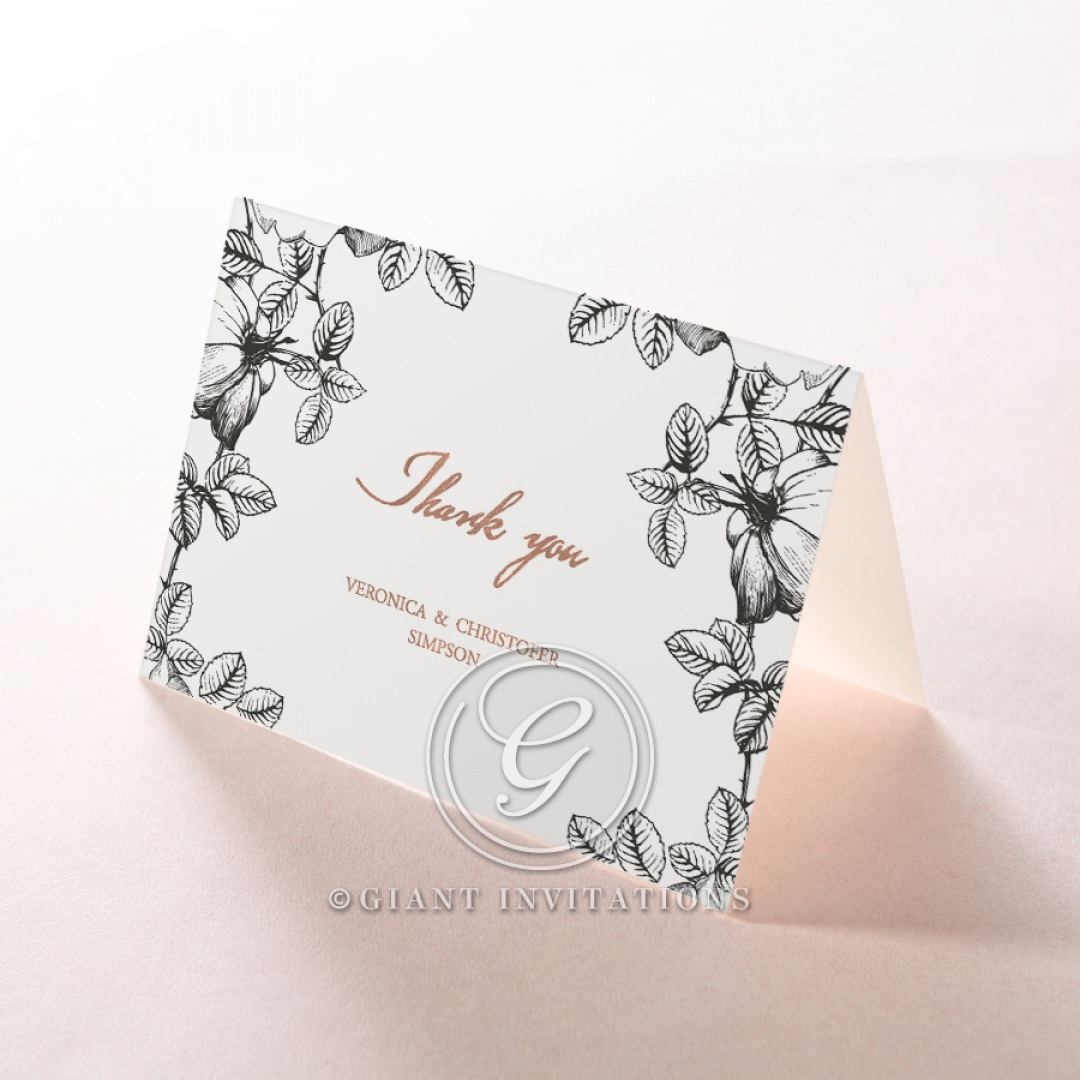 English Rose thank you card DY116108-TR-RG