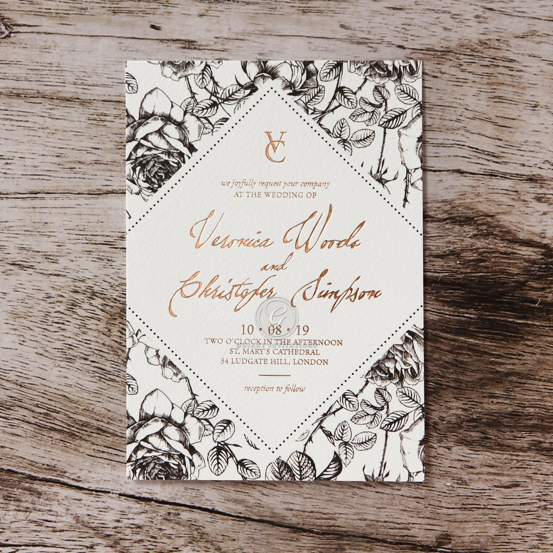 English Rose wedding invitations FWI116108-TR-RG