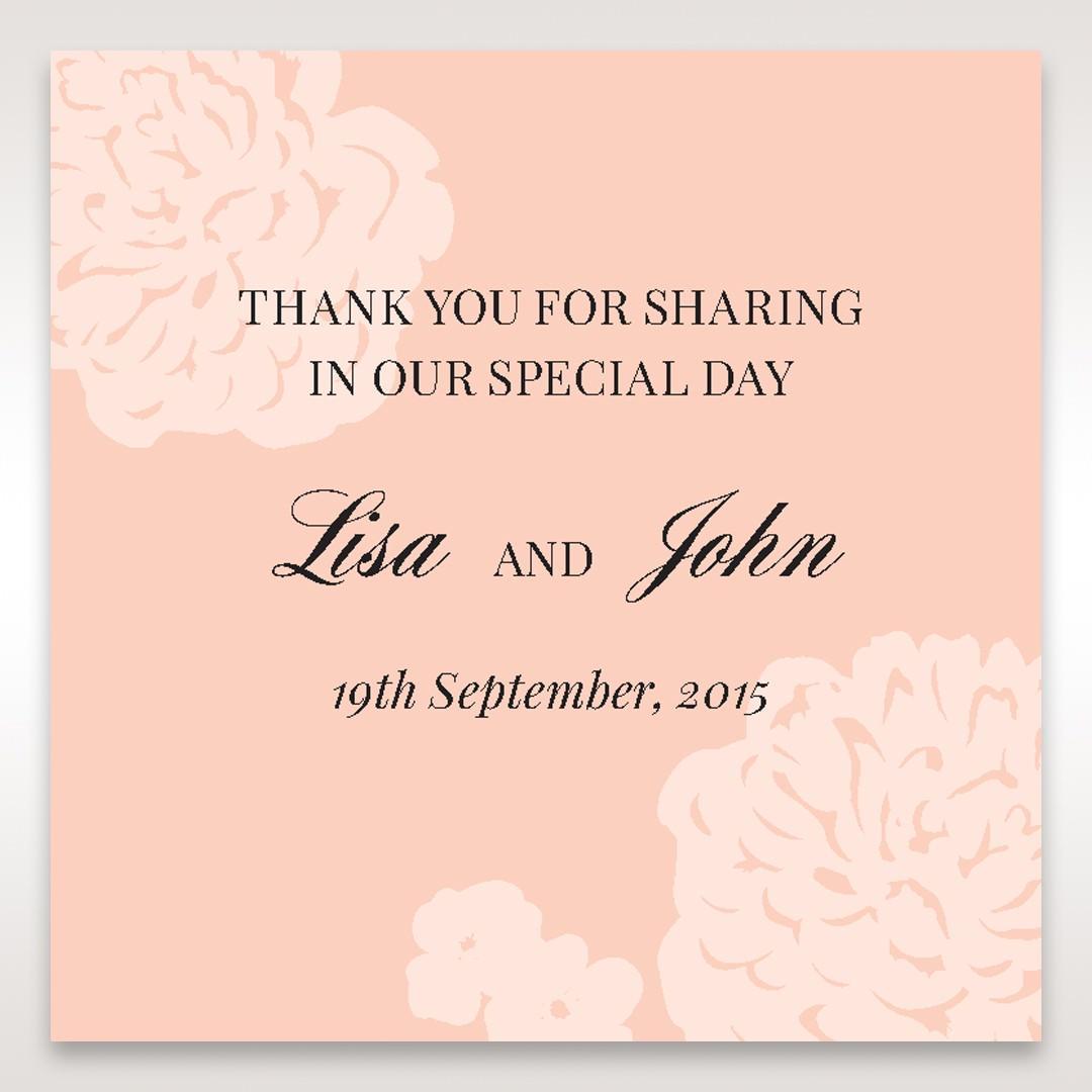 Pink Rustic Garden Laser Cut Pocket - Gift Tags - Wedding Stationery - 73