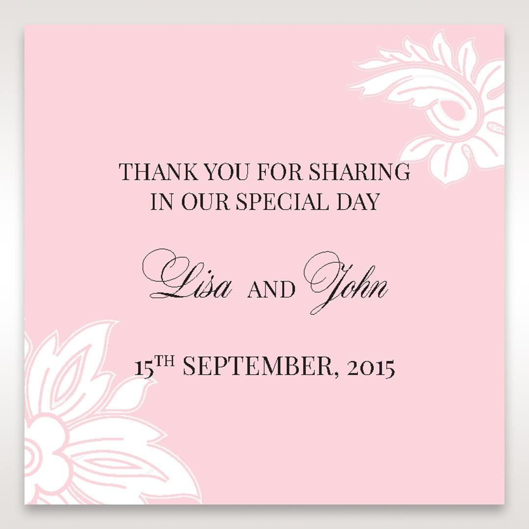 Pink Laser Cut Floral Half Pocket - Gift Tags - Wedding Stationery - 97