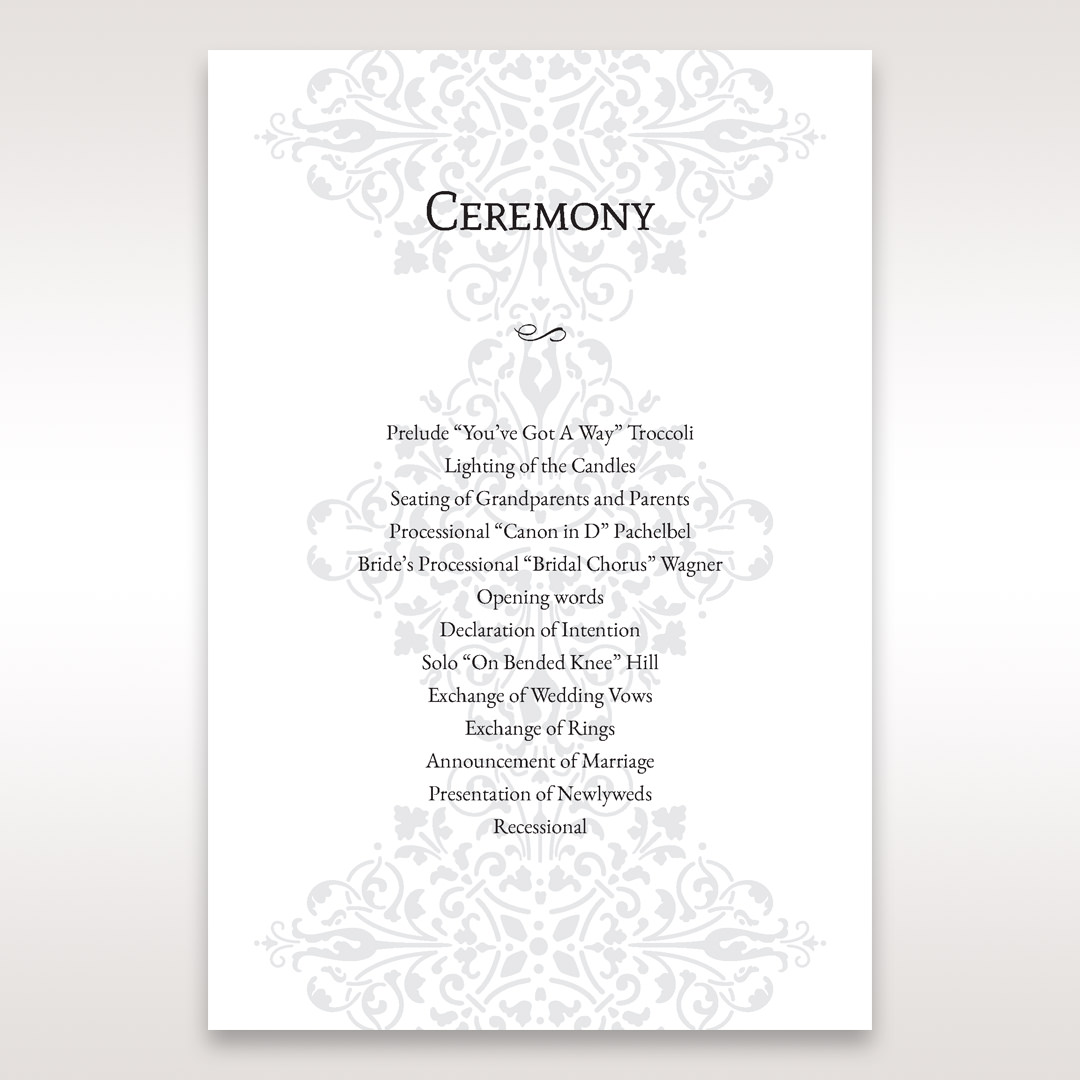 Black A Night at the Opera - Order of Service - Wedding Stationery - 49